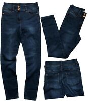 NEW IN! Ladies NEXT Dark Blue High Waist ENHANCER SKINNY Jeans ALL SIZES RRP £32
