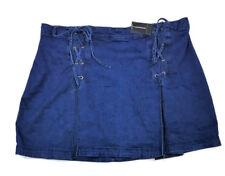 a90b91eb52b32 Ashley Stewart Lace up Front Denim Skirt Indigo Size 20