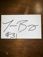 TRAVON BELLAMY - FOOTBALL - AUTOGRAPH SIGNED - INDEX CARD -AUTHENTIC -C1698