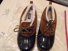 Khombu women  Size 11  Brown/Blue  Duck Boots Steel Shank