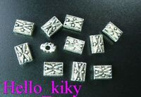 180Pcs  Tibetan silver ornate square spacer beads 7mm A78