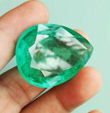 BIG! 134.40Cts 40x29 mm. Top Pear Columbian GREEN EMERALD Created Gems AAA++