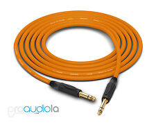 """UpScale Mogami W2524 Guitar Bass Cable 1//4"""" TS to 1//4"""" TSRA Black 6FT"""