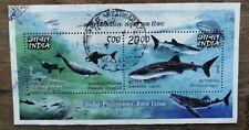 India 2009 PHILIPPINES  Gangetic Dolphin Butanding Miniature sheet used