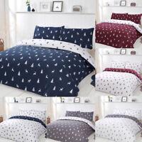 Luxury Check Stag Duvet Cover & Pillowcase Single Double King Bedding Set