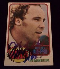 JOE DELAMIELLEURE 1976 TOPPS Autographed Signed FOOTBALL Card 430 ALL PRO CARD
