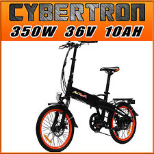"Addmotor CYBERTRON Folding Luggage Rack E-bike 350W 20"" Stealth Electric Bicycle"