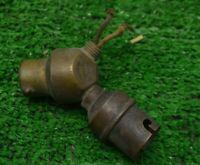 ANCIENNE DOUILLE DOUBLE SORTIE  AMPOULE LAMPE BAIONNETTE