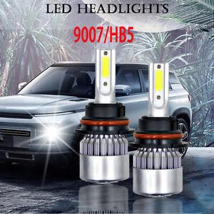 2PCS 9007 LED Hi-Low Beam Headlight Lamp Bulbs For Peterbilt Pete 348 2000-2016