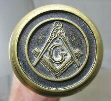 Freemason Mason Bronze or Brass Door Knob Cane Antique Vintage Fraternal