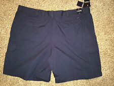 Chaps Shorts Cargo Big & Tall 46 Lead Table Navy Blue NWT $70