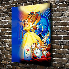 HD Canvas Print Painting Disney Beauty and the Beast Home Decor Wall Art Picture