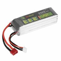 Lion 14.8V 4S 2200mAh Power 30C Rechargeable LiPo Battery T Plug for RC Car Boat