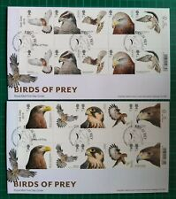 2019 Birds Of Prey Gutter Pairs on 2 First Day Covers Newent Gloucestershire pmk