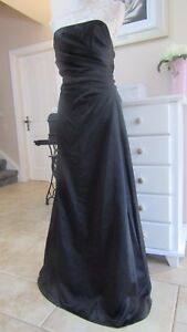 Jump Apparel Black Evening Formal Maxi Strapless Gown Size 9-10 UK 10-12