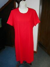 Vintage Marks & Spencer Fully Lined Bright Red Shift Dress Size  12