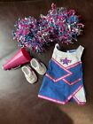 American Girl Doll Pink Blue cheerleading outfit