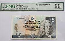 """2004 Scotland 5 Pounds PMG66 EPQ GEM UNC <P-363> """"Commemorative"""""""