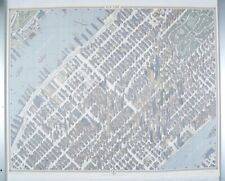 3 D VIEW AND MAP OF NEW YORK CITY MANHATTAN HERMAN BOLLMANN NOT FOLDED  43x33
