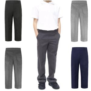 Kids Boys School Uniform Pull up Trouser
