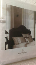 Yves Delorme ITALICS CAFE CREME Duvet Cover SUPERKING + PAIR OF KING PILLOWCASES