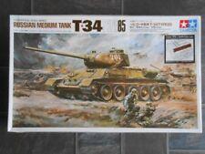 Vintage and rare 1/25 Tamiya T-34 85 Soviet Medium Tank model kit
