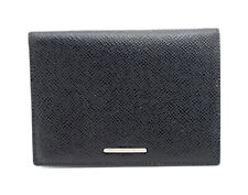 Balmain Paris Authentic Leather Passport Holder Cover Black