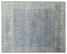 Gray 8 x 10 New Design Rug Hand Knotted Oushak Wool Area Rug from INDIA