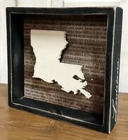 "LOUISIANA State ""Favorite Place"" Primitives by Kathy Box Sign, 8"" x 8.5"""