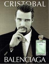 Publicité Advertising 107  2000  parfum homme Cristobal par Balenciaga