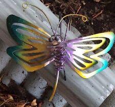 Dragonfly Fence Hanger Garden Decor Yard Outdoor Lawn Wall Art Metal Butterfly