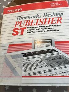 timeworks - desktop publisher on the atari 520 1040 & Mega St