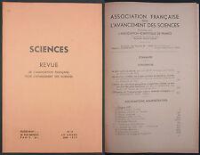 REVUE POUR L'AVANCEMENT DES SCIENCES - 1937 N°13 - Gites fossilifères Microbes..