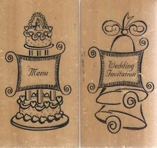 Anita's Rubber Stamps Set, Wedding and Menu for Personalized Wedding invitations