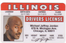 Michael Jordan Basketball star of the Chicago Bulls id card Drivers License