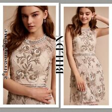 New $325 SOLD OUT BHLDN Ivory Silver Allover Sequins Beads MARIPOSA Mini 0 / XS