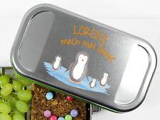 Lunchbox mit Pinguin und Namen personalisiert BPA-frei Butterbrotdose