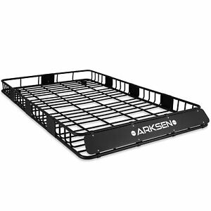"""84"""" x 50"""" x 6"""" Black Roof Rack Heavy Duty Top Luggage Cargo Carrier"""
