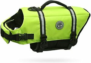 Vivaglory Ripstop Dog Life Jackets, Reflective & Adjustable Preserver Vest XS