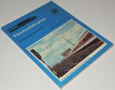Taschenfahrplan der Reichsbahndirektion Halle Winter 1990/91