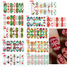 Christmas Nail Art Stickers 3D Design Manicure Tips Decals Wraps Decoration