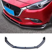 3pcs Glossy Black Front Bumper Lip Cover Trim For Mazda 3 / Axela 2014-2018