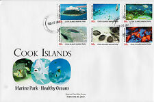 Cook Islands 2013 FDC Marine Park 6v Set Cover Life Fishes Fish Healthy Oceans