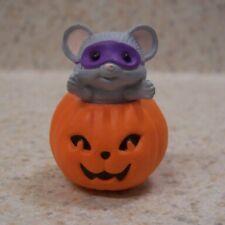 Hallmark Mouse And Jack-0-Lantern Pumpkin 1988 Merry Miniature Halloween