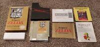 The Legend of Zelda Nintendo NES Gold Complete Box Map Instruction Manual CIB !!