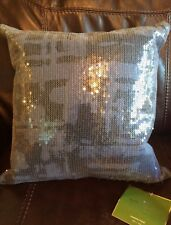 KATE SPADE NEW YORK PAINTERLY PLAID COBALT 18X18 DECORATIVE DOWN THROW PILLOW