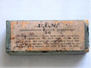 B.C.N. GRAMOPHONE NEEDLE SHARPENER - ORIGINAL BOX