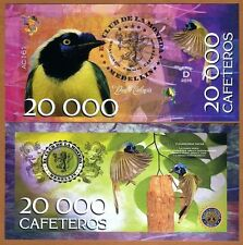 Colombia 20000 Cafeteros  El Club De La Moneda 2016 Green Jay UNC
