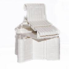 Highliving ® 36 PcsPack White Plastic Nursery Hangers Nonslip Baby Kids Children