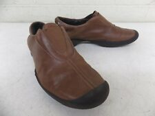 Wolky High-Quality Brown Leather Slip-On Shoes EU 37 US Women's 6 NO INSOLES